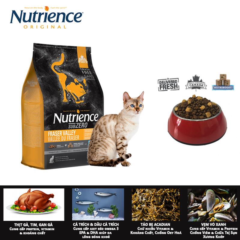 Thức Ăn Hạt Cho Mèo Nutrience Subzero - Thịt Gà, Cá Hồi, Cá Trích, Cá Tuyết, Rau Củ & Trái Cây Tự Nhiên