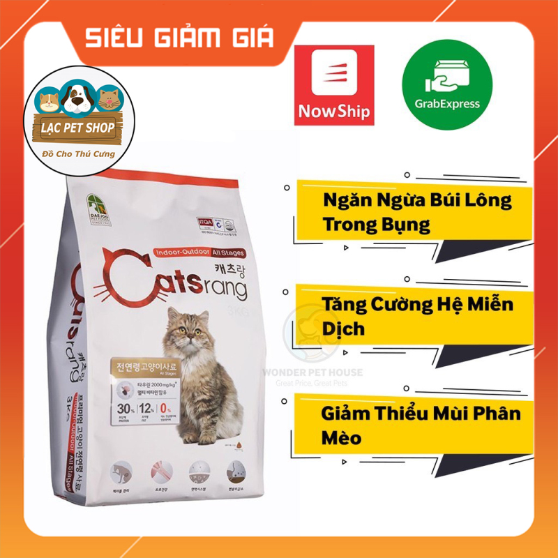 Thức Ăn Hạt Catrang Cho Mèo - Bao 5Kg và Túi Chiết 1Kg - Siêu Tiết Kiệm