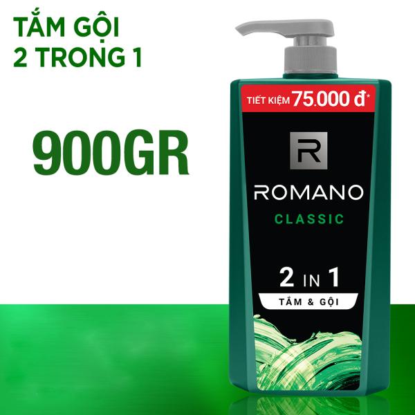 Tắm gội 2 trong 1 Romano Classic cổ điển lịch lãm 900gr 5.0