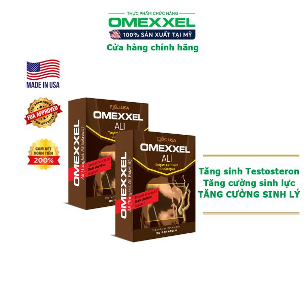 Combo 2 Hộp Viên uống tăng cường sinh lý nam Omexxel Ali - chính hãng Mỹ (Hộp 30 viên)