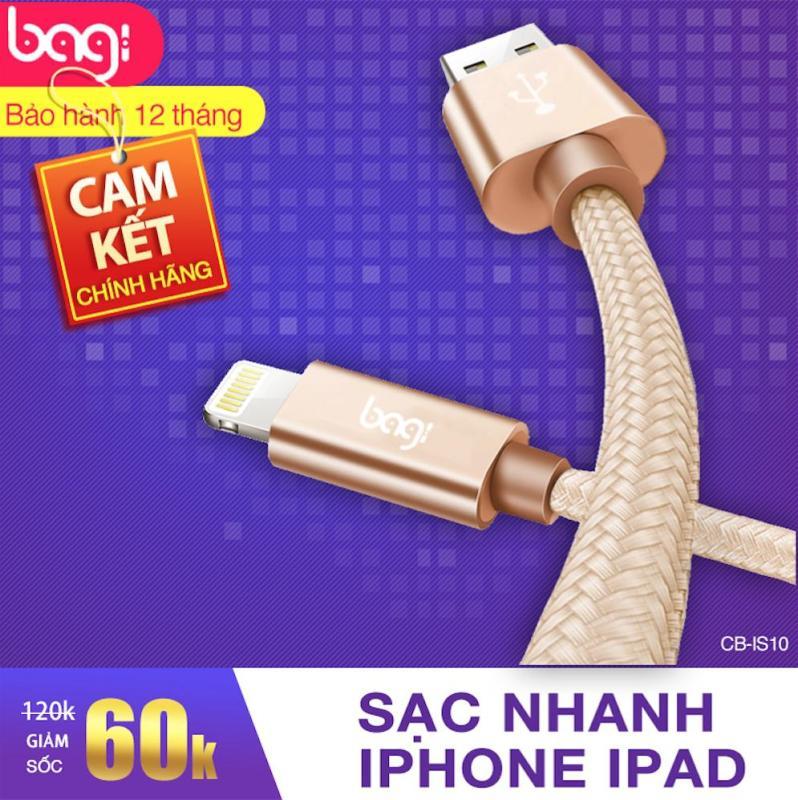 Sạc iPhone thương hiệu Bagi - Made in Việt Nam có hỗ trợ sạc nhanh