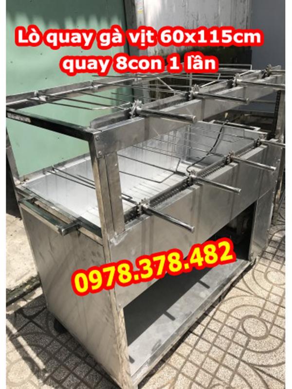 Lò quay gà vịt Inox 8 con 600 x 1150mm
