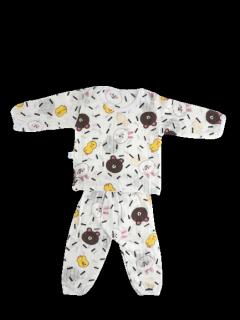 TANOSA Bộ dài tay cotton giấy biết thở thoáng khí khuy vai tiện dụng cho bé yêu từ 6-15kg thumbnail