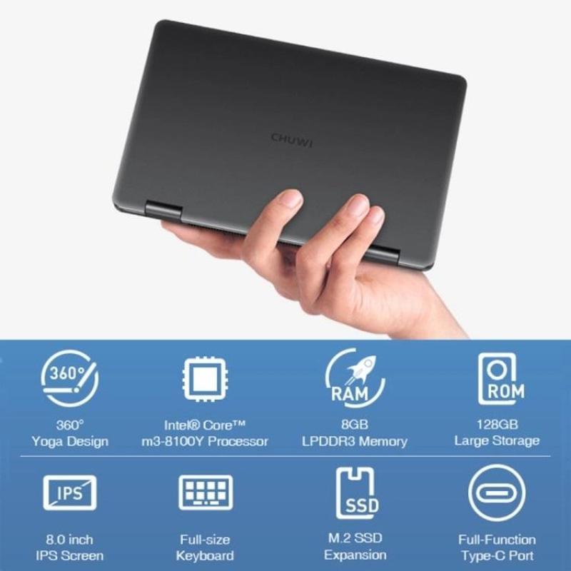 Mini Laptop Chuwi MiniBook Core M3-8100Y/8/256GB màn hình 8 inch Full HD kèm bút