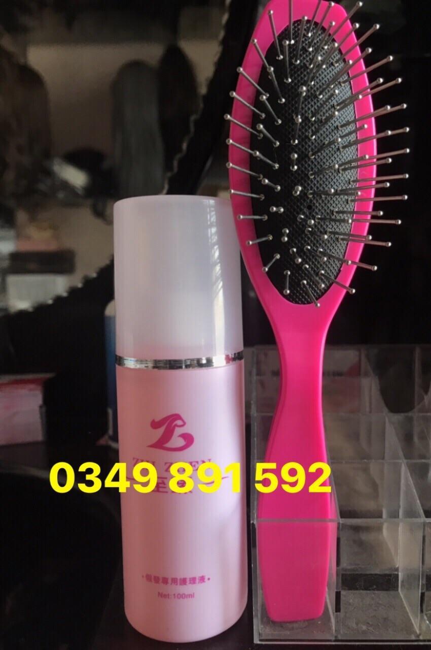 Xịt dưỡng và lược chải tóc giả combo DLSPKC_001 giá rẻ