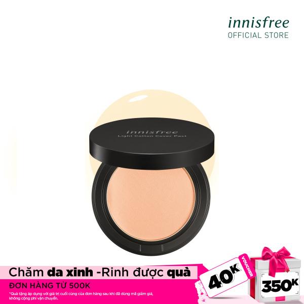 Phấn nén trang điểm mỏng nhẹ innisfree Light Cotton Cover Pact SPF30 PA+++ 21N Vanilla 12g giá rẻ