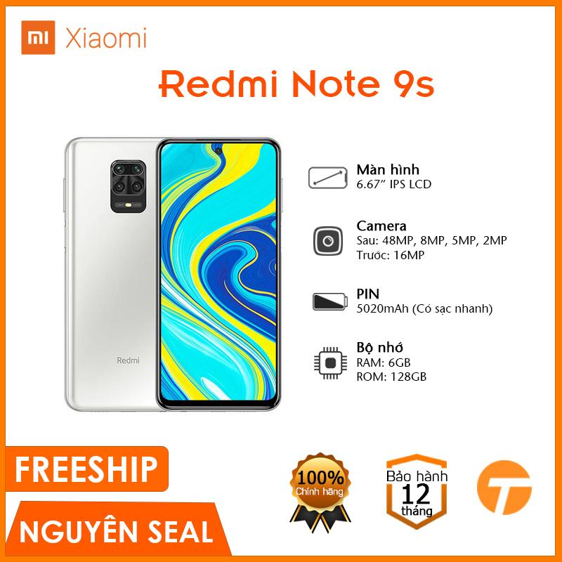 Điện thoại Xiaomi Redmi Note 9S (4GB/64GB) - PIN khủng sạc nhanh, Kính cường lực, Hiệu suất cao,... - Bảo hành 12 tháng