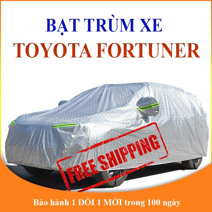 Bạt che phủ xe ô tô 7 chỗ Toyota Fortuner chống nắng mưa, bạt trùm xe ô tô 3 lớp chống nóng không thấm nước