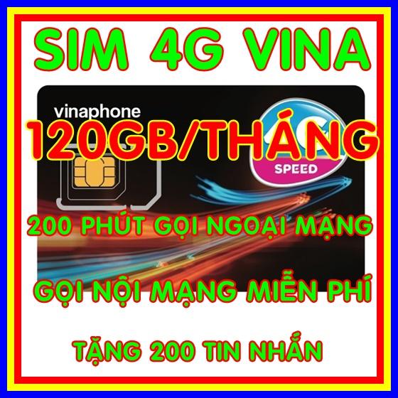 Giá Sim 4G Vina gói 4GB/ngày (120GB/tháng) + 200 phút gọi ngoại mạng + Miễn phí gọi nội mạng Vinaphone gói VD149 - Giống như sim 4G Vinaphone VD89P (VD89 Plus) - Shop Sim Giá Rẻ