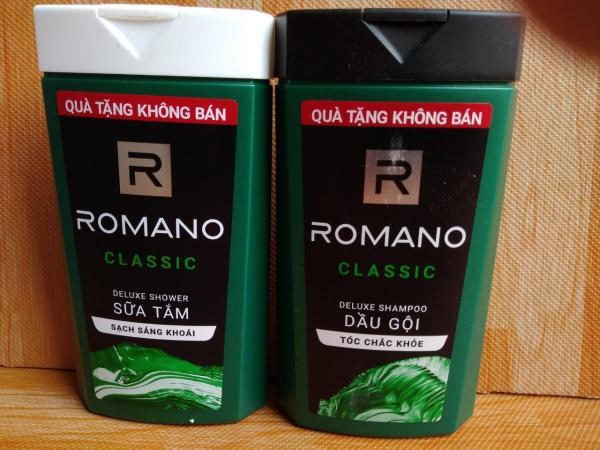 Combo Quà Tặng Khguyến mãi Romano : 1Dầu Gội Đầu Romano Nam 150g. 1 Sữa Tăm Hương Nước Hoa Romano 150g giá rẻ