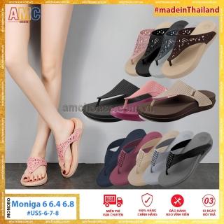 [HCM]Dép Thái Lan nữ xỏ ngón cao 4cm nhựa siêu nhẹ chống thấm nước hiệu MONOBO - Moniga 6 6.4 6.8 thumbnail