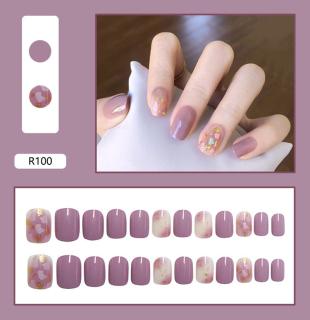 Móng tay giả có keo sẵn nail giả đẹp bộ 24 móng tay giả nhựa hot trend móng giả bộ móng tay giả TK-MT012 thumbnail