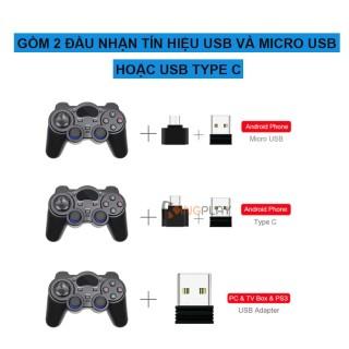 Tay cầm chơi game PC Laptop Điện Thoại TV Android TV Box - Tay cầm chơi game không dây USB Bluetooth 2.4G 5