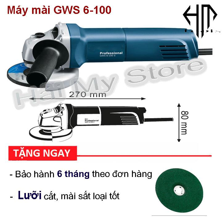 Máy mài giá rẻ BOCCH GWS6-100 - Công suất 670w lưỡi 100mm - Máy mài 1 tấc giá rẻ tặng đá cắt - Hải My