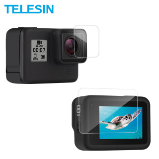 TEELSIN 2Pcs HD Tempered Glass Screen - Lens Protector Film 2.5D Ultrathin Full Coverage for GoPro Hero 8 Camera Accessories thumbnail