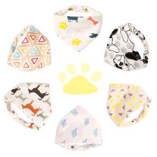 6 Yếm Little Dimsum hình tam giác mềm mại thấm nước có thể điều chỉnh dành cho trẻ em 0-3 tuổi 10033 - INTL