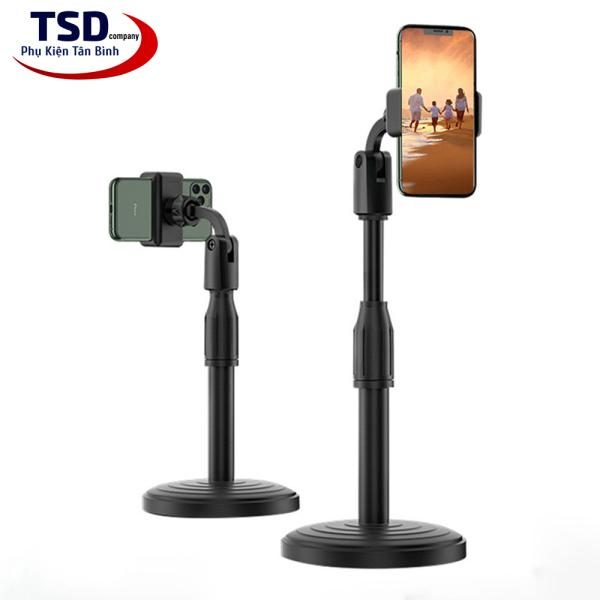 [HCM]Chân Đế Để Bàn Kẹp Điện Thoại Khi Livestream Xem Phim Xoay 360 Độ Thông Minh