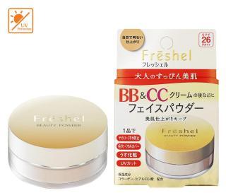 Phấn bột Kanebo Freshel BB & CC SPF26 PA++ 10g (Da sáng) Nhật bản thumbnail