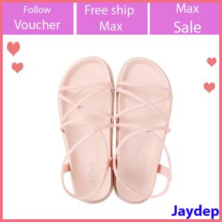 Giày sandal alina nữ đi mưa đế bánh mỳ siêu bền V256 thumbnail