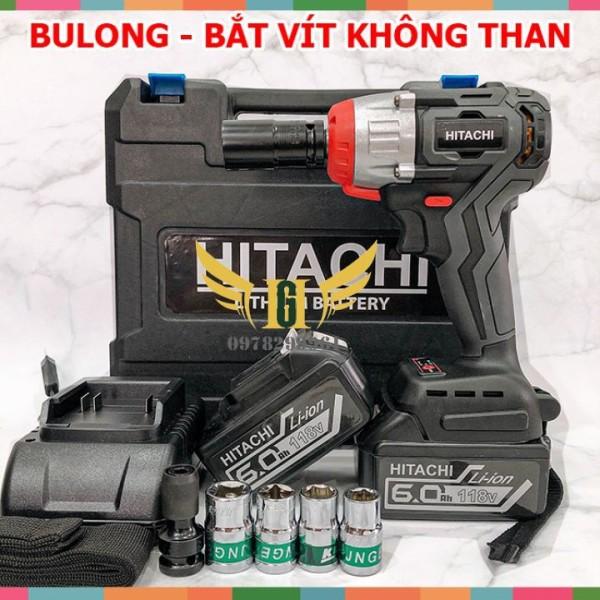 [BẢO HÀNH 12 THÁNG] Máy Siết Bulong HITACHI 118V Không Chổi Than Chính Hãng