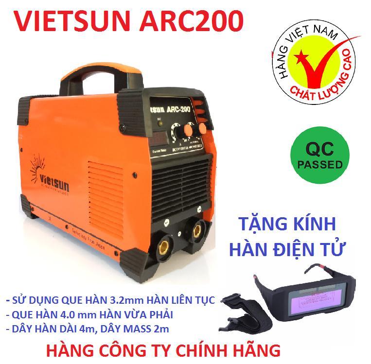 máy hàn điện tử Vietsun ARC200, máy hàn điện tử, máy hàn que, máy hàn mini, máy hàn điện, máy hàn, kính hàn, phụ kiện hàn