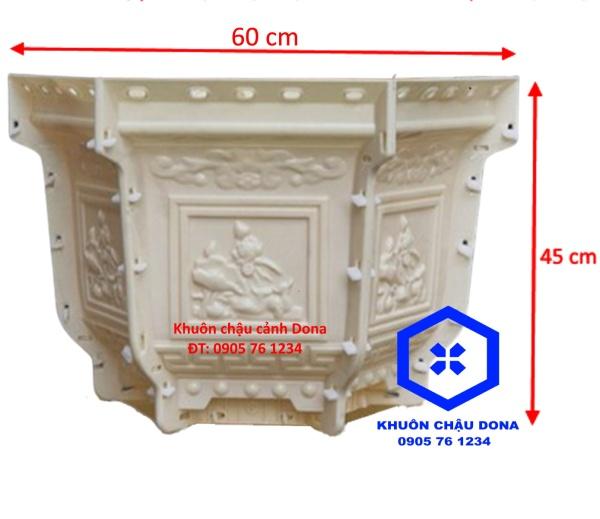 Khuôn Đúc Chậu Lục Giác 60 cao 45 cm Chữ Phúc Lộc Thọ Khuôn Đúc Chậu Cảnh Nhựa ABS cao cấp