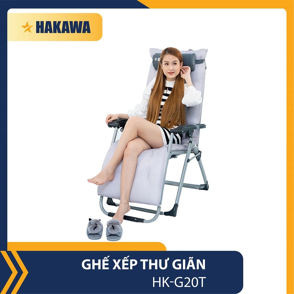 GHẾ BỐ XẾP THƯ GIÃN HAKAWA HK-G20T - BẢO HÀNH CHÍNH HÃNG 25 NĂM - THAY LƯỚI, NỆM MIÊN PHÍ TRONG 5 NĂM