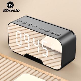 [Siêu Sale][Hàng Quốc tế Chính hãng] Wiresto Loa Bluetooth 5.0 không dây Đèn LED Đồng hồ Báo thức Giao diện thẻ TF tích hợp pin 1400mAh Tính năng Không thấm nước Radio Âm thanh 3D sắc nét Kết nối cuộc gọi rảnh tay Màn hình gương thumbnail