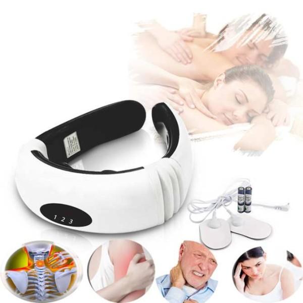 Máy Masage vai gáy chữ C, Máy Massage Cổ Vai Gáy 3D, Máy matxa trị liệu, , rung từ trường và xung điện, giảm đau hiệu quả, thích hợp dùng mọi nơi, bảo hành toàn quốc