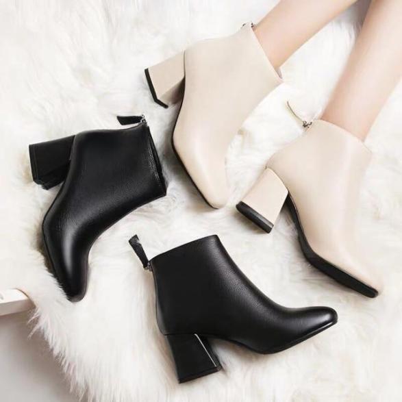 Giày bốt da nữ thời trang chất đẹp MIXTEEN STORE giá rẻ