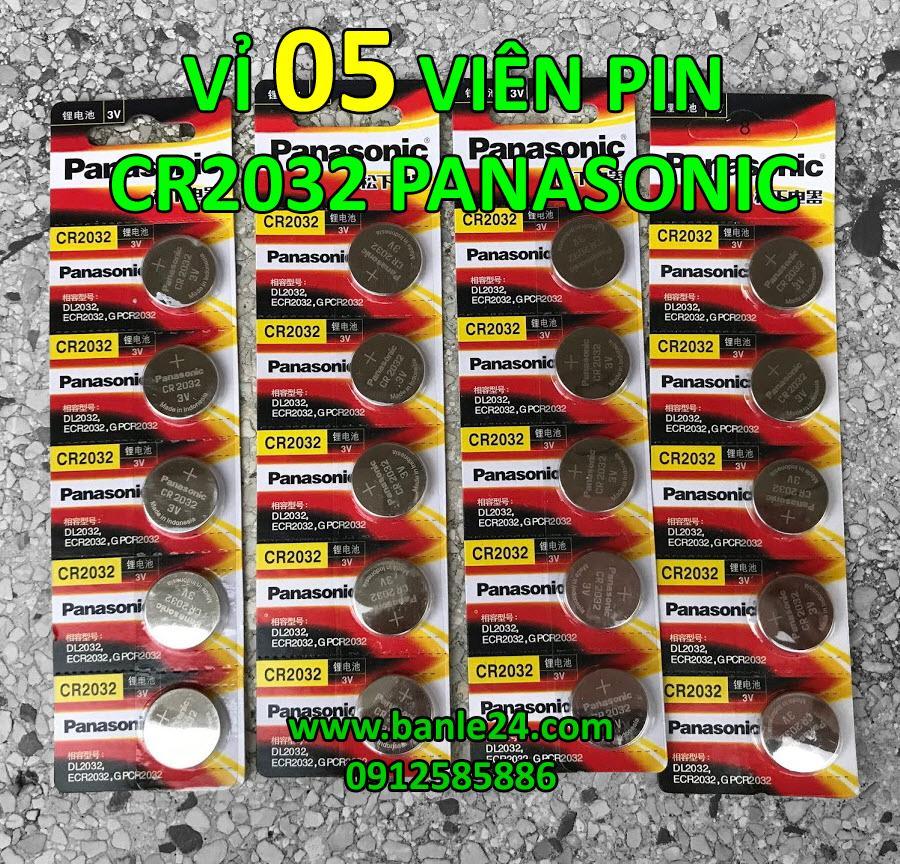 Vỉ 5 Viên Pin Cr2032 Panasonic Dành Cho Máy Tính, Chìa Khóa ô Tô, Thiết Bị điện Tử Đang Khuyến Mãi