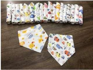 10 yếm cotton quàng cổ cài nút cho bé