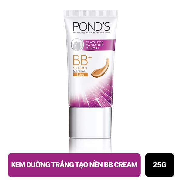 Kem Dưỡng Trắng Tạo Nền Ponds Flawless Radiance Derma+ BB Cream - Light (25g)