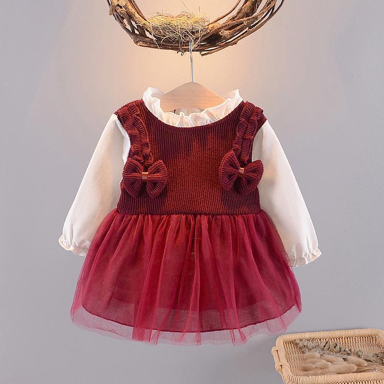 Giá bán váy thu đông bé gái nhí size 5-13kg