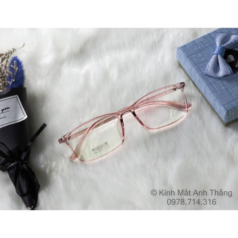 Giá bán Gọng kính cận nhựa dẻo trong suốt 2 màu trắng hồng (201)