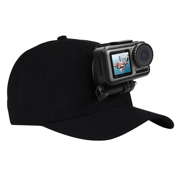 Giá Mũ lưỡi trai gắn GoPro 8 / 7 / 6 / 5 và Action Cam hãng Puluz kèm đế và vít vặn