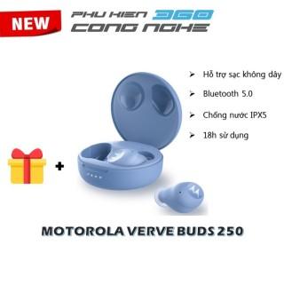 Tai nghe bluetooth TWS - Motorola - VerveBuds 250 - Hỗ trợ sạc không dây - Thời gian sử dụng 18h - Chuẩn chống nước IPX 5 - Giá rẻ NO BOX thumbnail