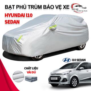 [HYUNDAI I10] Bạt che nắng mưa bảo vệ xe ô tô Hyundai i10 sedan, bạt vải dù Oxford cao cấp độ bền cao , áo trùm phủ kín xe oto i10 sedan 5 chỗ cách nhiệt , bạc che ô tô xe hơi 3 lớp thông minh thumbnail