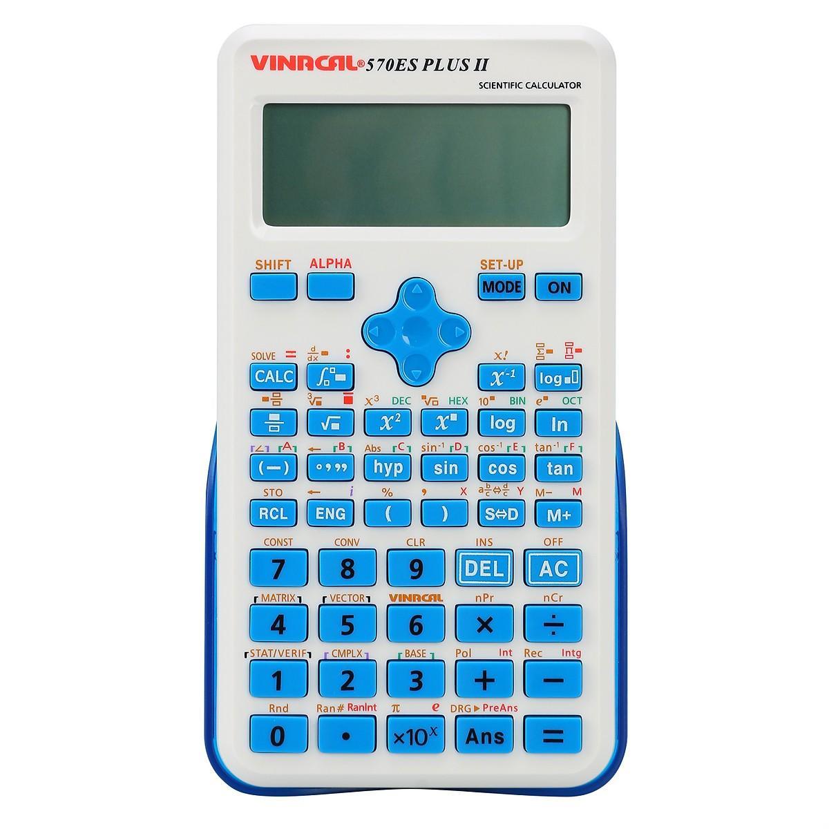 Mua Máy Tính Học Sinh Vinacal 570ES Plus II - Xanh dương