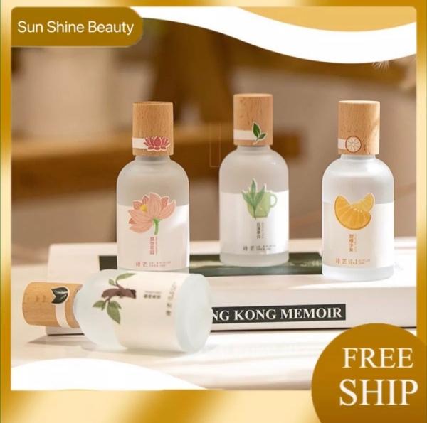Nước hoa Shimang 50ml mẫu mới 2021 nắp gỗ lọ tròn vỏ mờ sang trọng ,Xịt thơm toàn thân bodymist shimang, SUN SHINE BEAUTY cao cấp