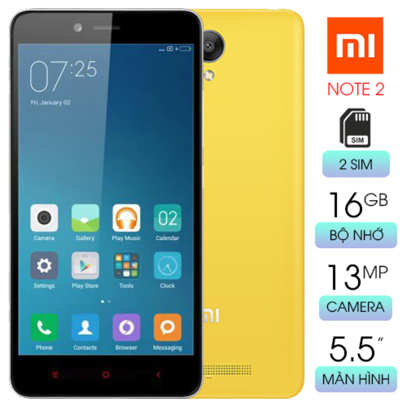 Redmi Note 2 cấu hình mạnh giá rẻ màn hình rộng 5.5 inch