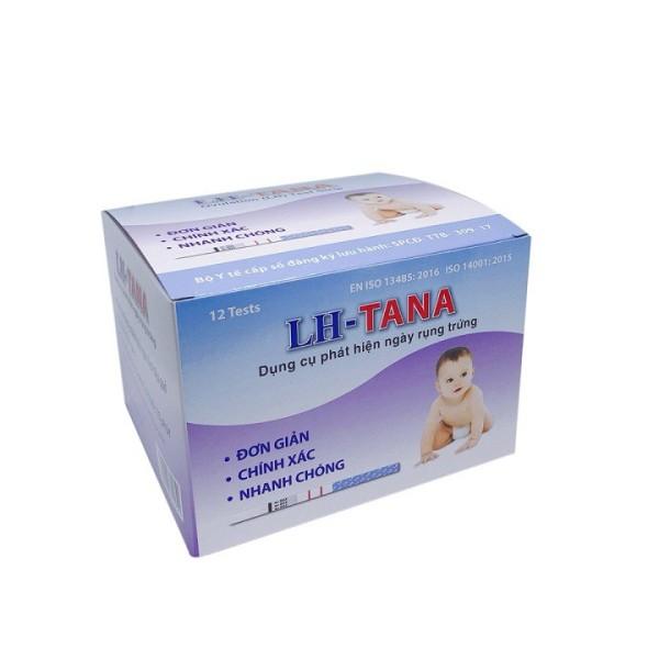 Hộp 12 que thử rụng trứng LH - Tana - Dụng cụ phát hiện ngày rụng trứng LH- TANA - An toàn - Nhanh chóng - Đơn giản và Chuẩn xác nhập khẩu