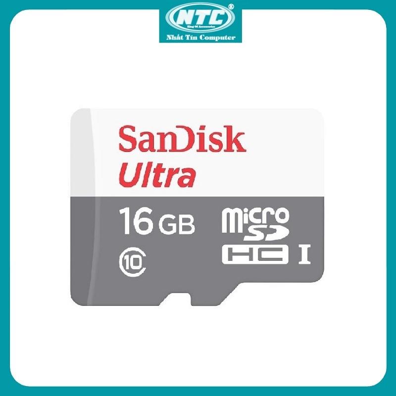 Thẻ nhớ MicroSDHC SanDisk Ultra 533X 32GB / 64GB / 16GB 80MB/s (Bạc) - Không Box - Nhất Tín Computer