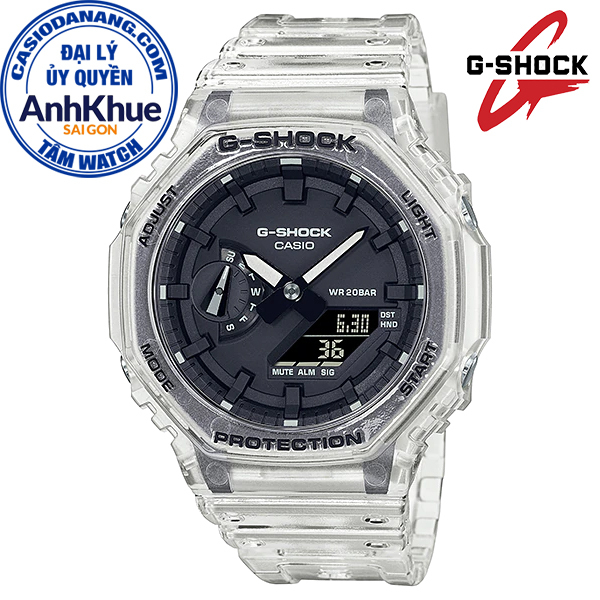 Đồng hồ nam dây nhựa Casio G-Shock chính hãng Anh Khuê GA-2100SKE-7ADR (45mm)