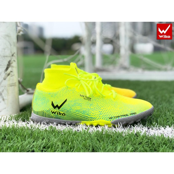 Giầy bóng đá WIKA Super speed  chính hãng cao cấp ( giày đá banh sân cỏ nhân tạo cổ cao Superspeed đinh thấp đế TF )