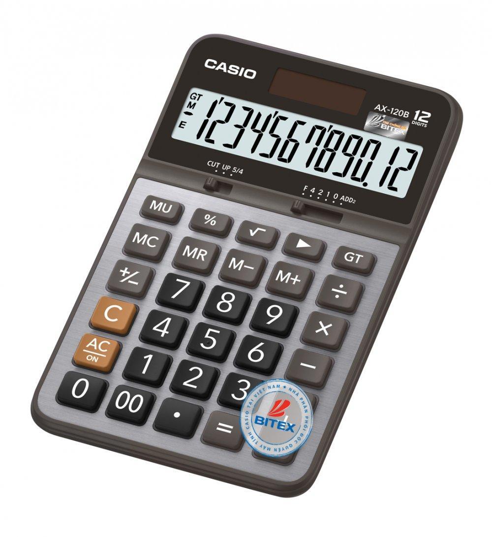 Mua Máy tính Casio AX-120B (Casio AX 120B) - N/k bởi Bitex - B/hành 02 năm