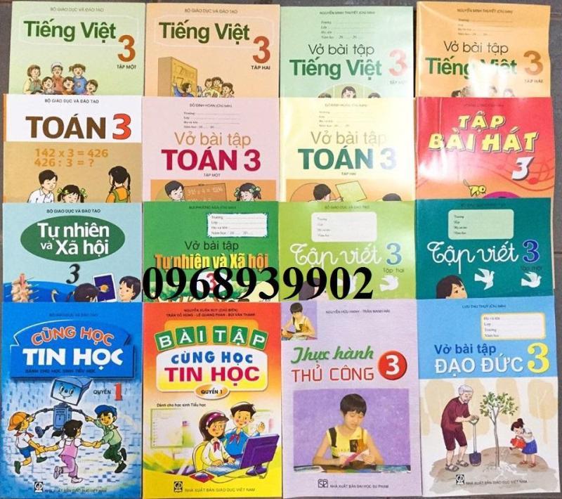 Mua Bộ sách giáo khoa và vở bài tạp lớp 3 (gồm 16Q)