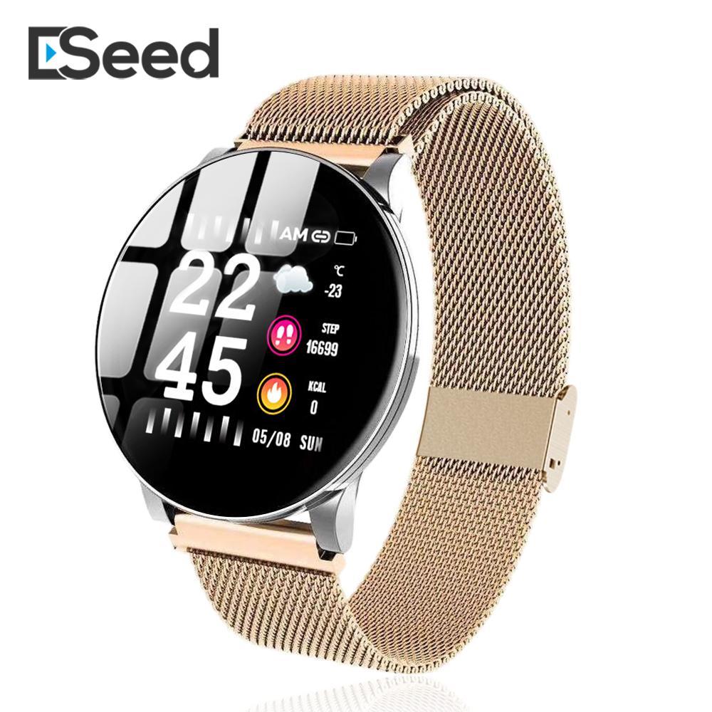 ESEED Đồng hồ thông minh E3 mới, có màn hình cảm ứng chống nước IP67, pin 170mAh, bluetooth 4.0, có chức năng nhắc nhở vận động/theo dõi giấc ngủ, dùng cho Android/IOS iPhone Xiaomi Huawei, giá tốt - INTL