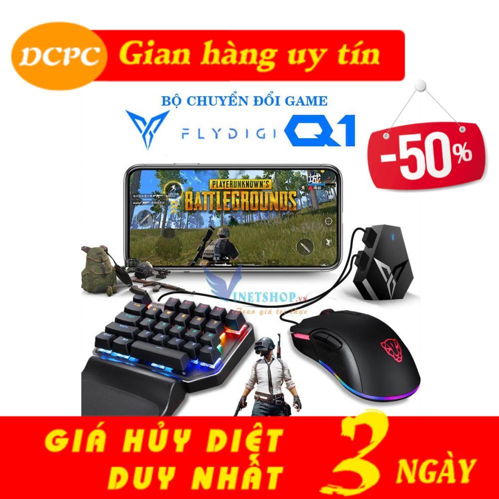 Bộ chuyển đổi game Flydigi Q1 chơi game PUBG, ROS, Free Fire và các game FPS khác,công nghệ Flymapping, chơi trực tiếp từ AppStore không band acc ( q1, flydigi, stinger, wash, flydi d1, d1 )