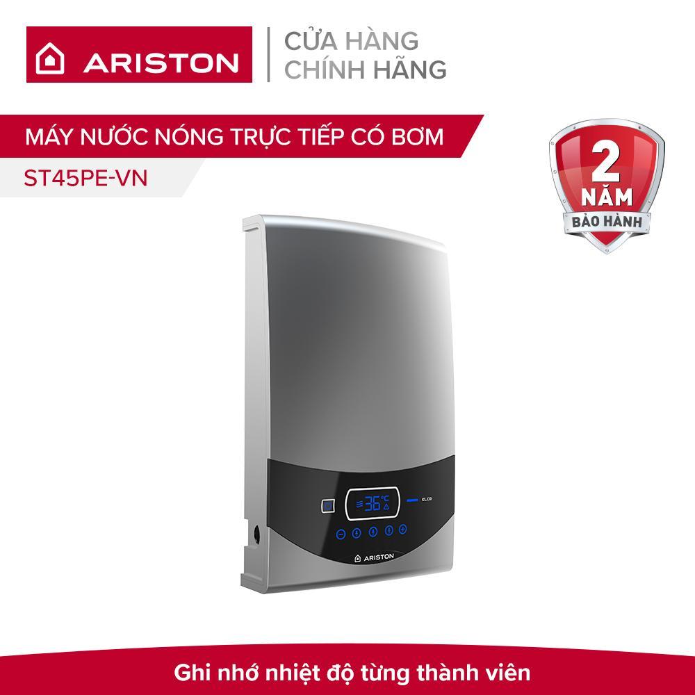 Máy nước nóng trực tiếp có bơm Ariston ST45PE-VN 4500W (Xám)